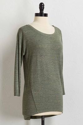 scoop neck high-low top