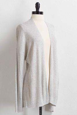 pointelle knit cardigan