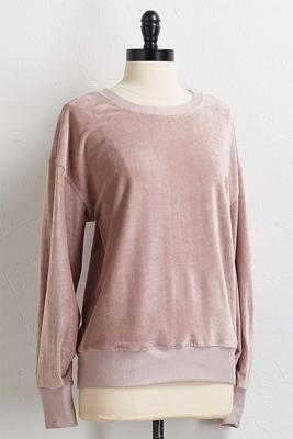 velour ribbed top