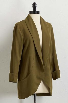 textured drape jacket