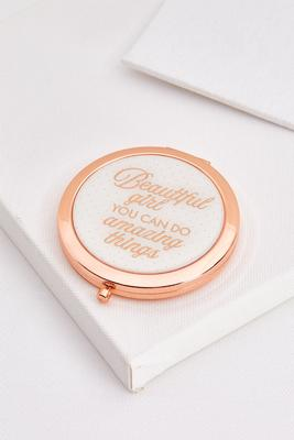 beautiful girl compact mirror