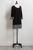 Metallic Crochet Trim Shift Dress