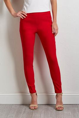 solid color pull-on pants