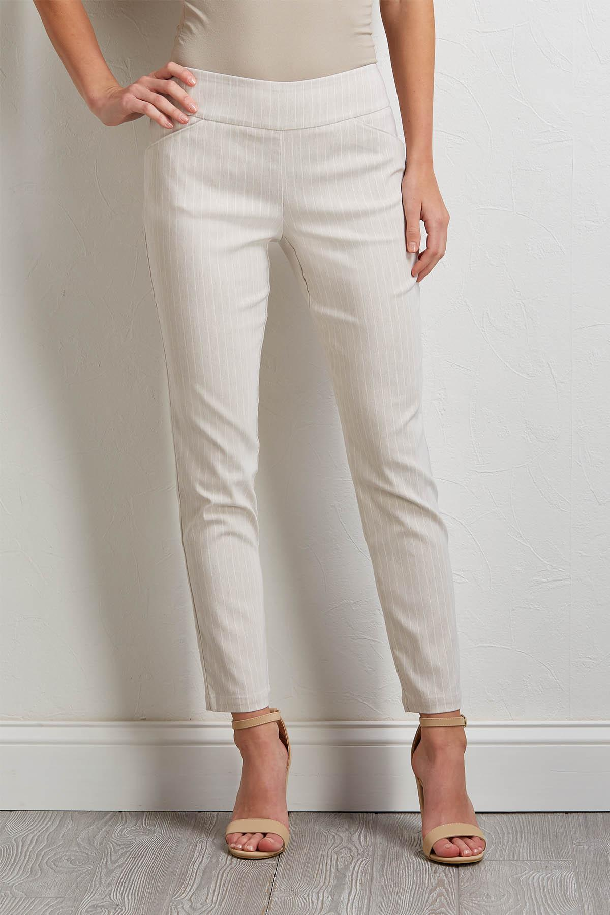 Neutral Stripe Pull- On Pants