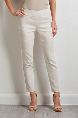 neutral stripe pull-on pants