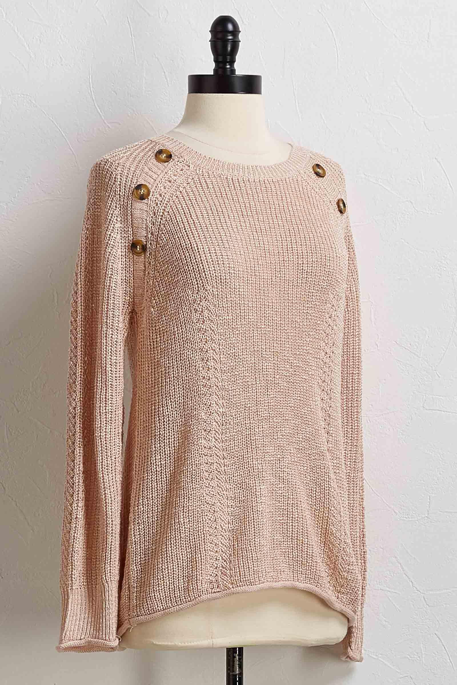 Button Shoulder Sweater
