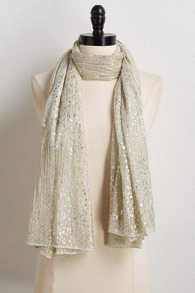 Foiled Leopard Scarf