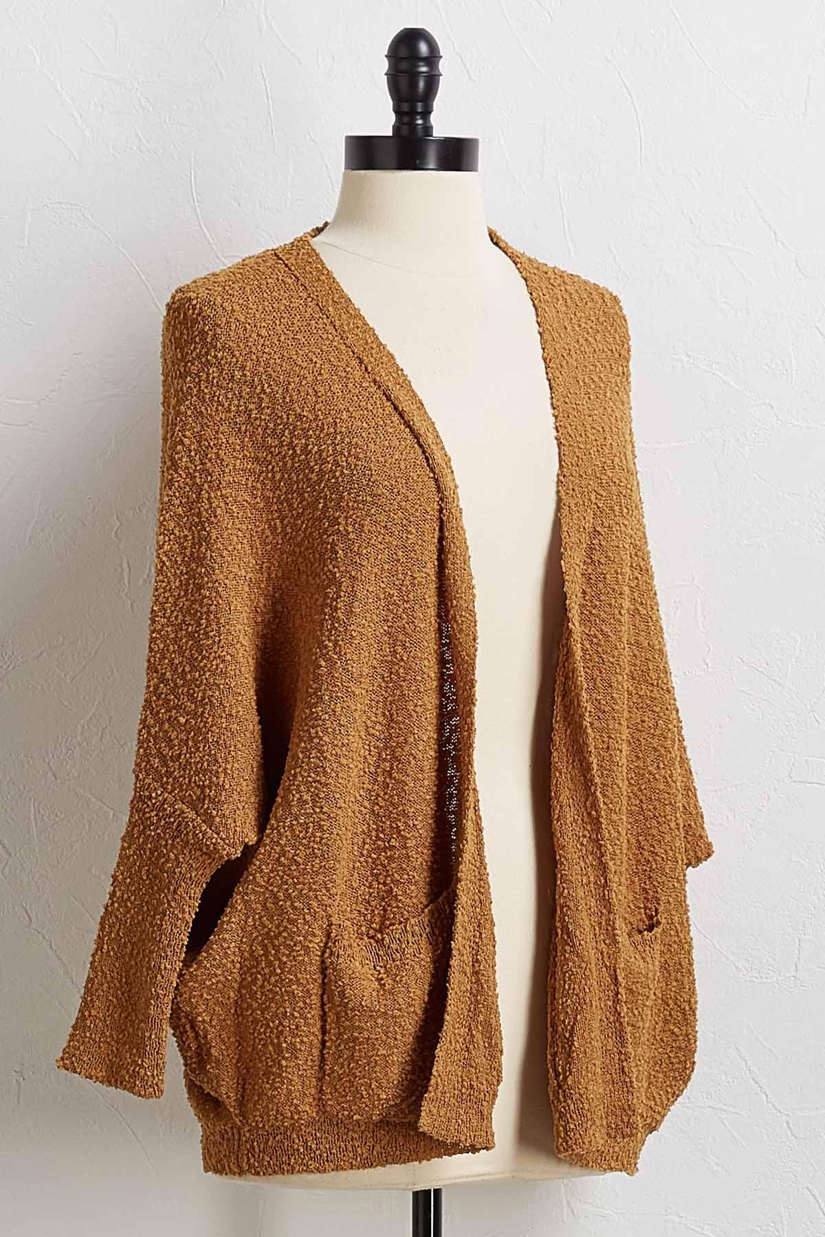 Drape Pocket Cardigan Sweater