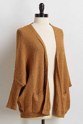 drape pocket cardigan sweater