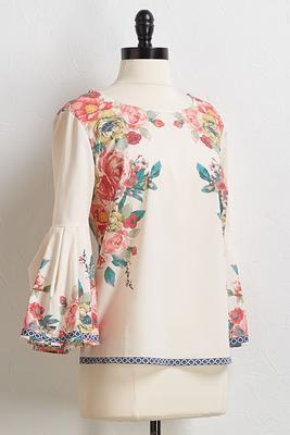 rose garden bell sleeve top