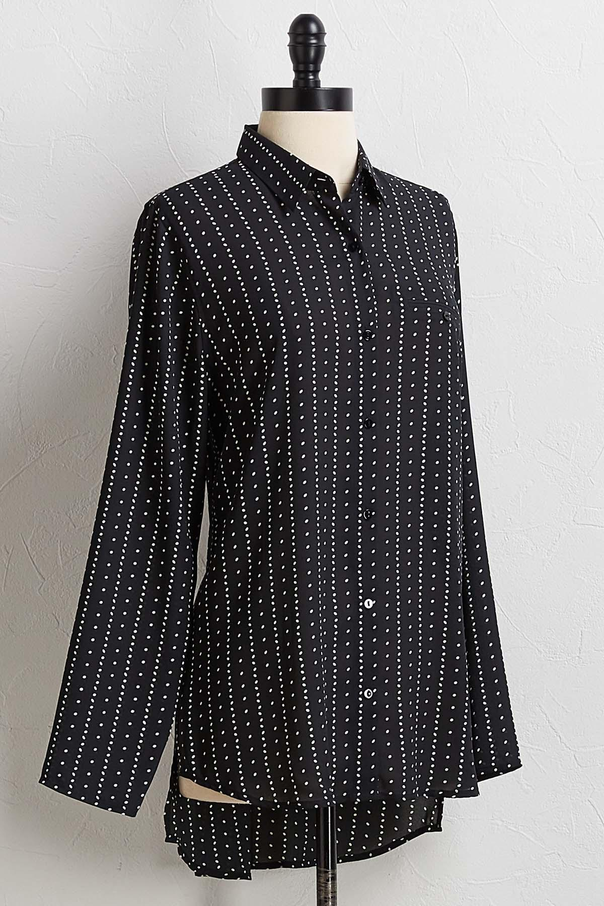 Dotted Button Down Tunic