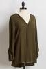 Crepe Olive Top