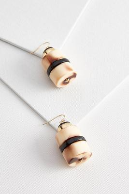 dangle ceramic cylinder earrings