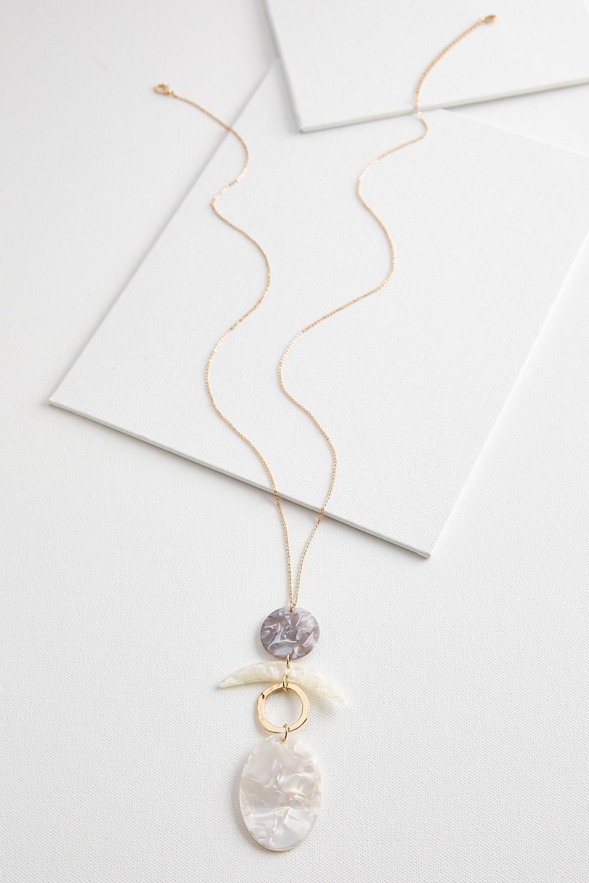 Lucite Geo Pendant Necklace