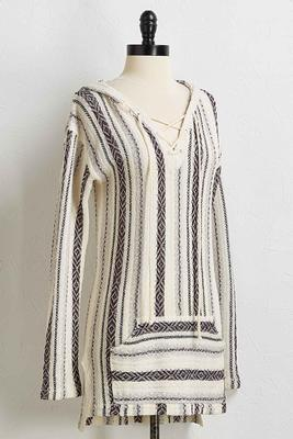 hooded blanket sweater