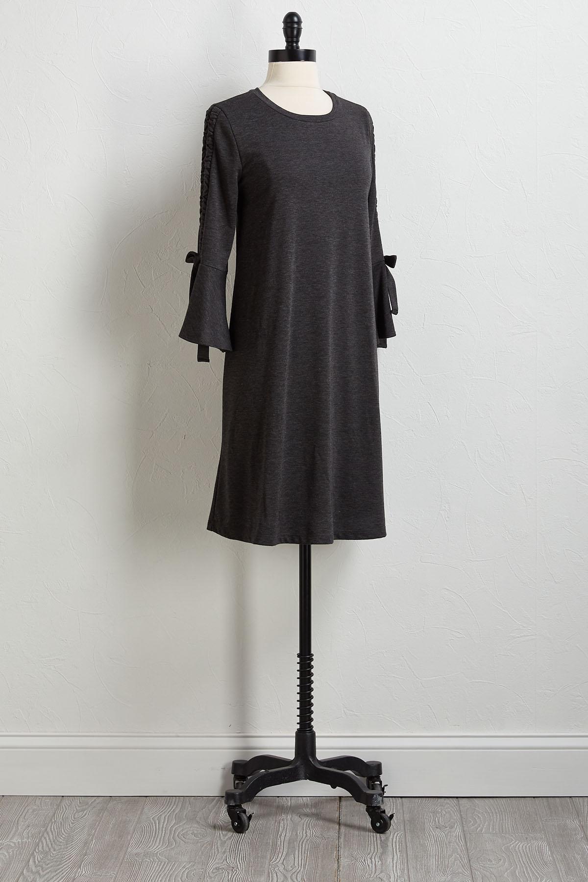 Cinch Bell Sleeve Dress