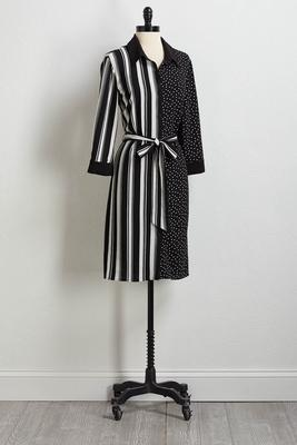 stripe and dot shift dress