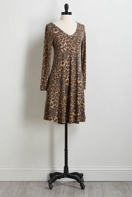 leopard hacci shift dress