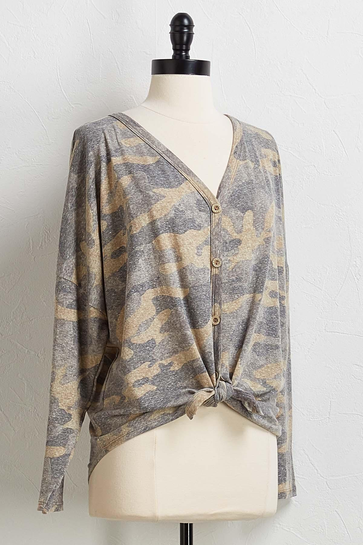 Knotted Camo Top
