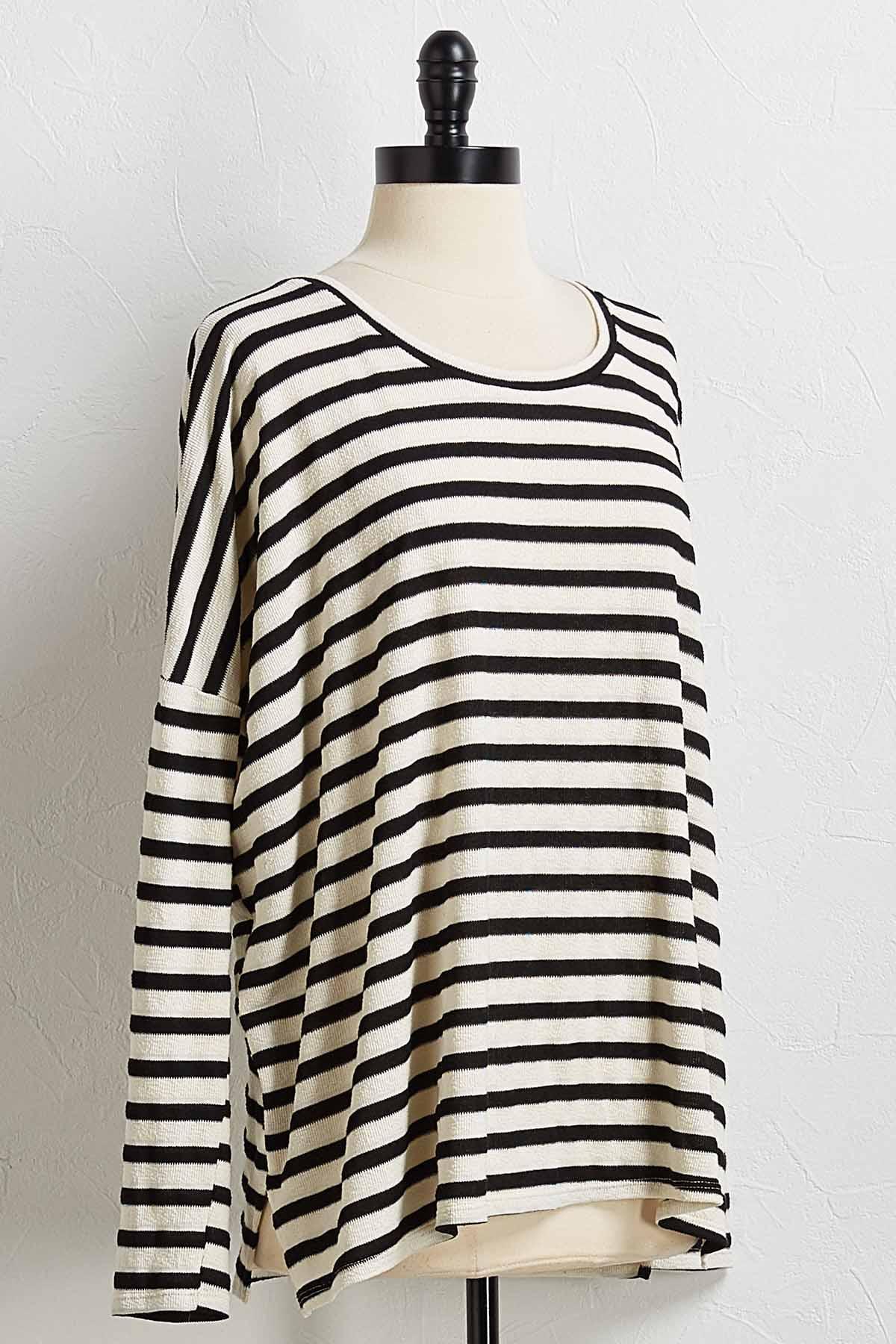 Textured Stripe Tunic