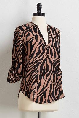 tiger stripe high-low top