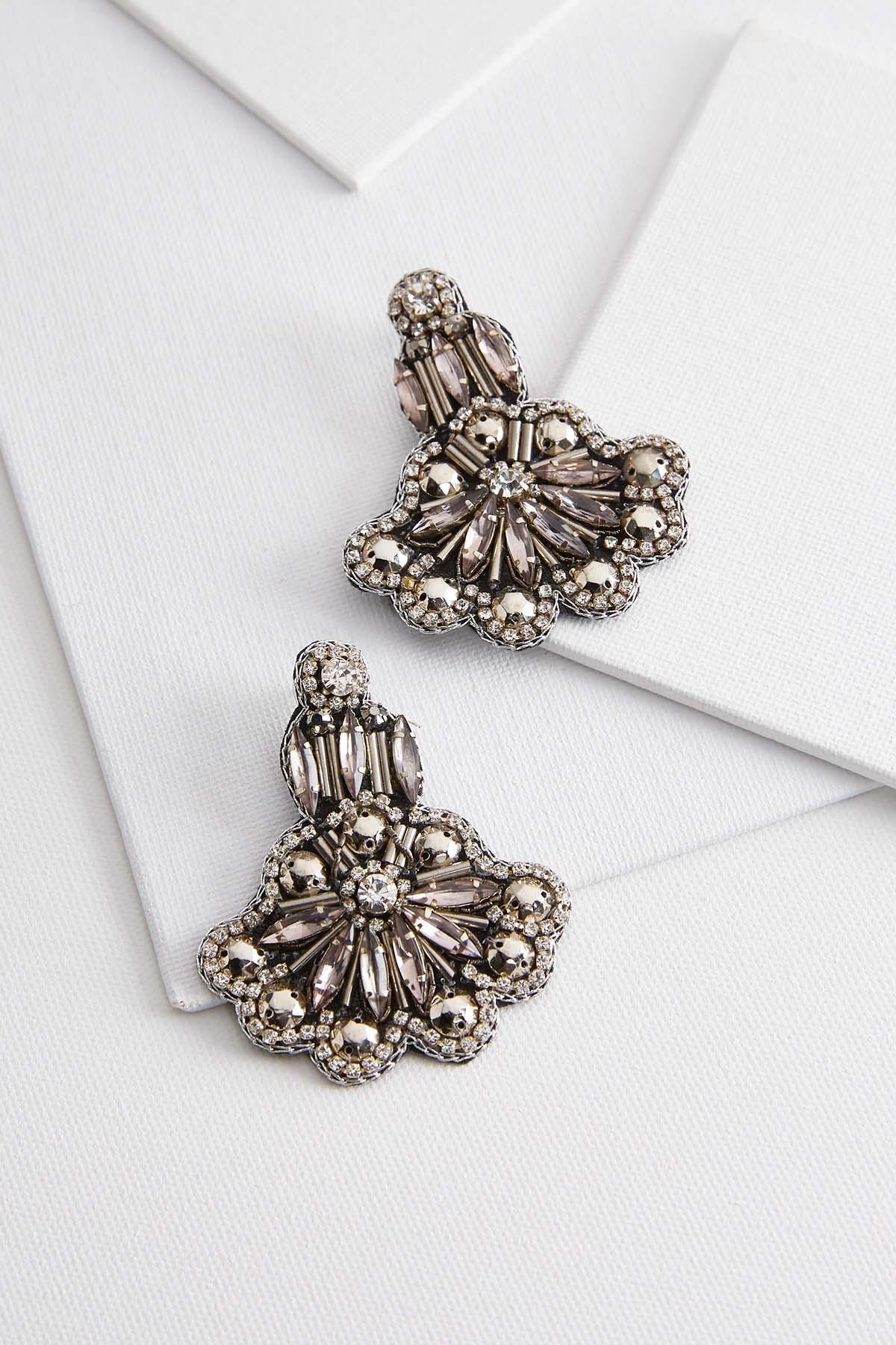 Glimmering Fabric Back Earrings