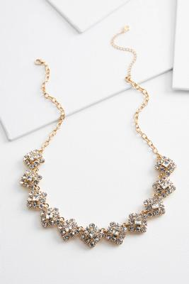 sparkly diamond shaped necklace