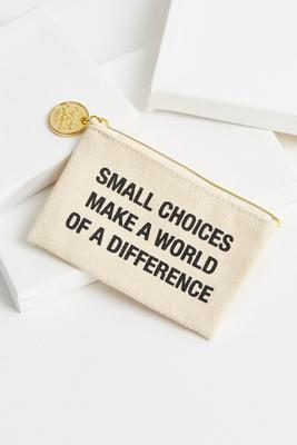say something canvas coin purse