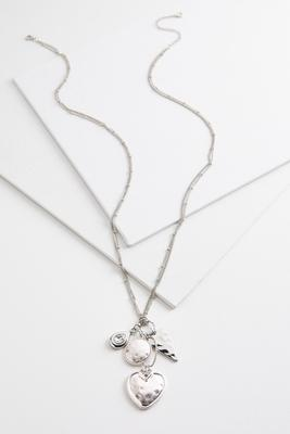 cluster heart pendant necklace