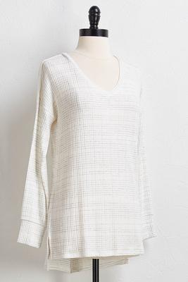 hacci gray stripe tunic