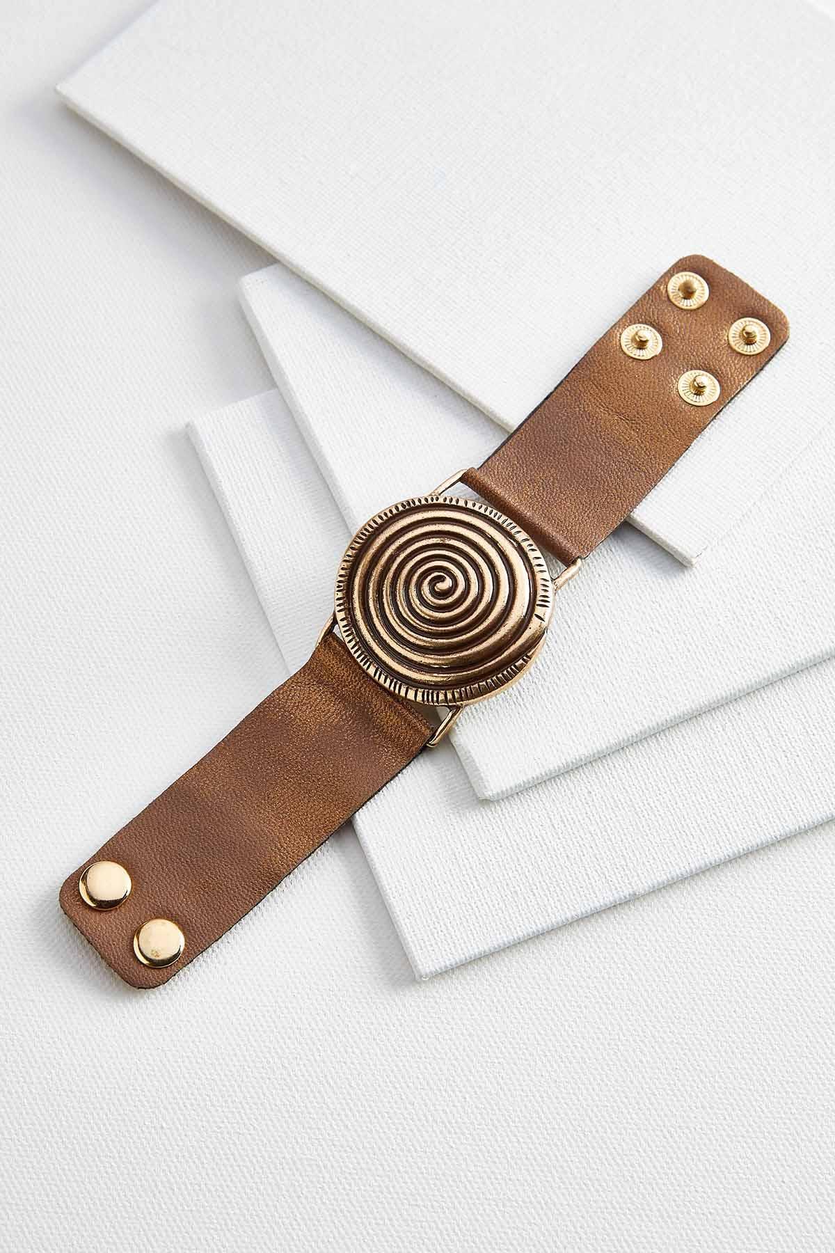 Metallic Faux Leather Bracelet