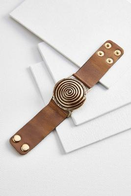 metallic faux leather bracelet