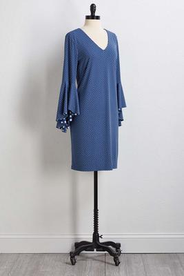 mixed dot shift dress