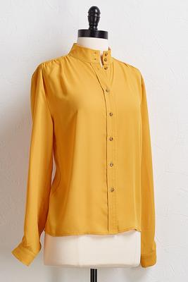 solid button front shirt