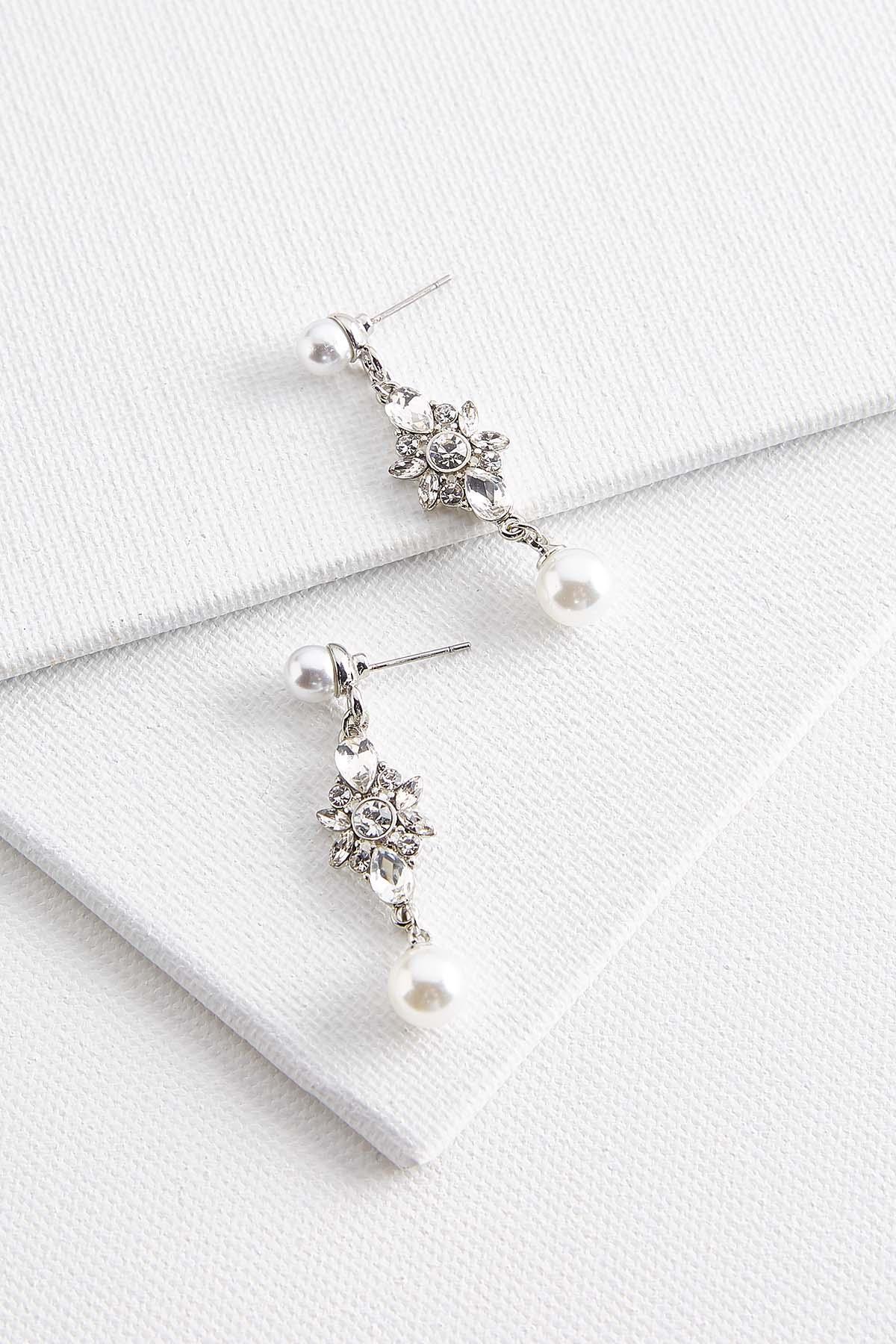 Pearl Stone Dangle Earrings