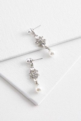 pearl stone dangle earrings