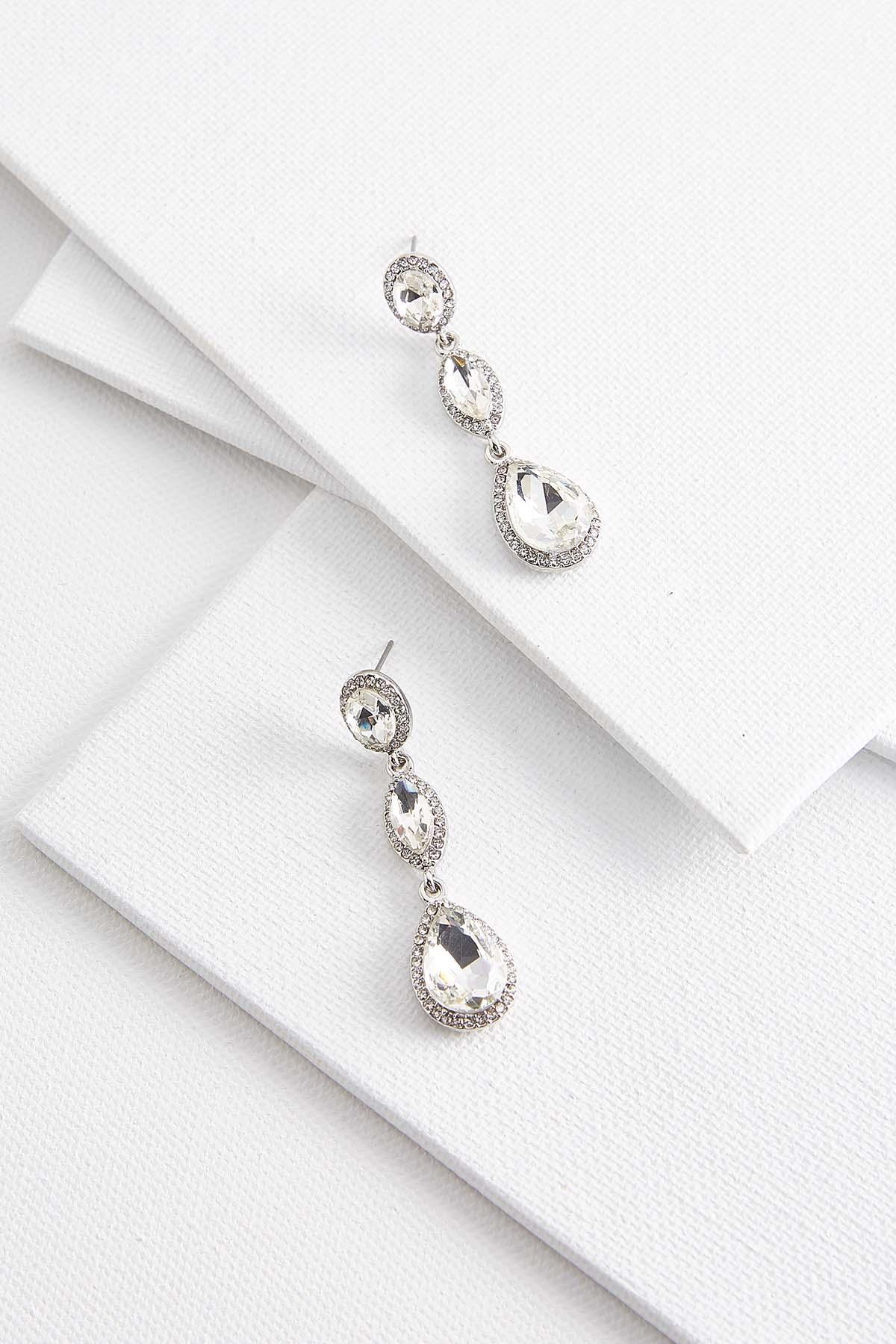 Haloed Stone Statement Earrings