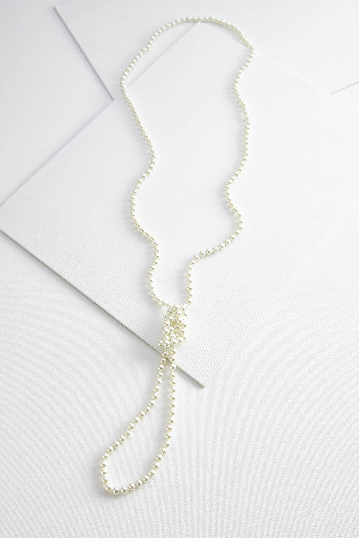Knotted Pearl Rope Necklace