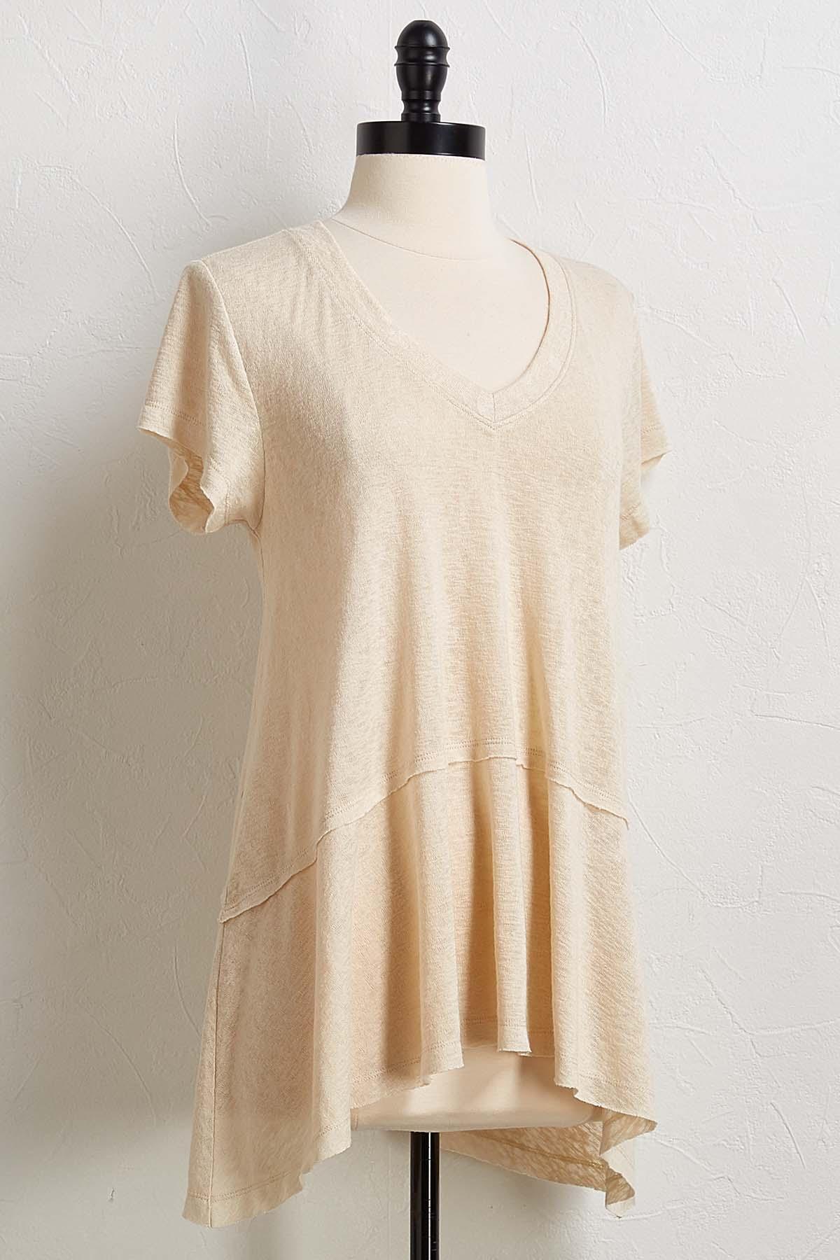 Taupe Slub Knit Tunic