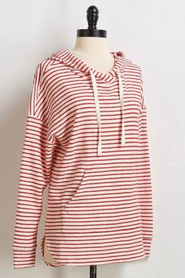 stripe nautical hoodie