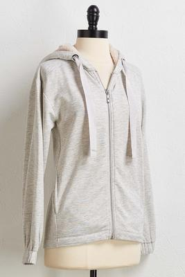 gray sherpa hoodie