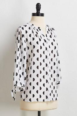 half moon tie sleeve top