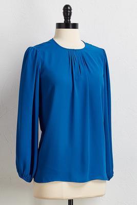 dressy blue top