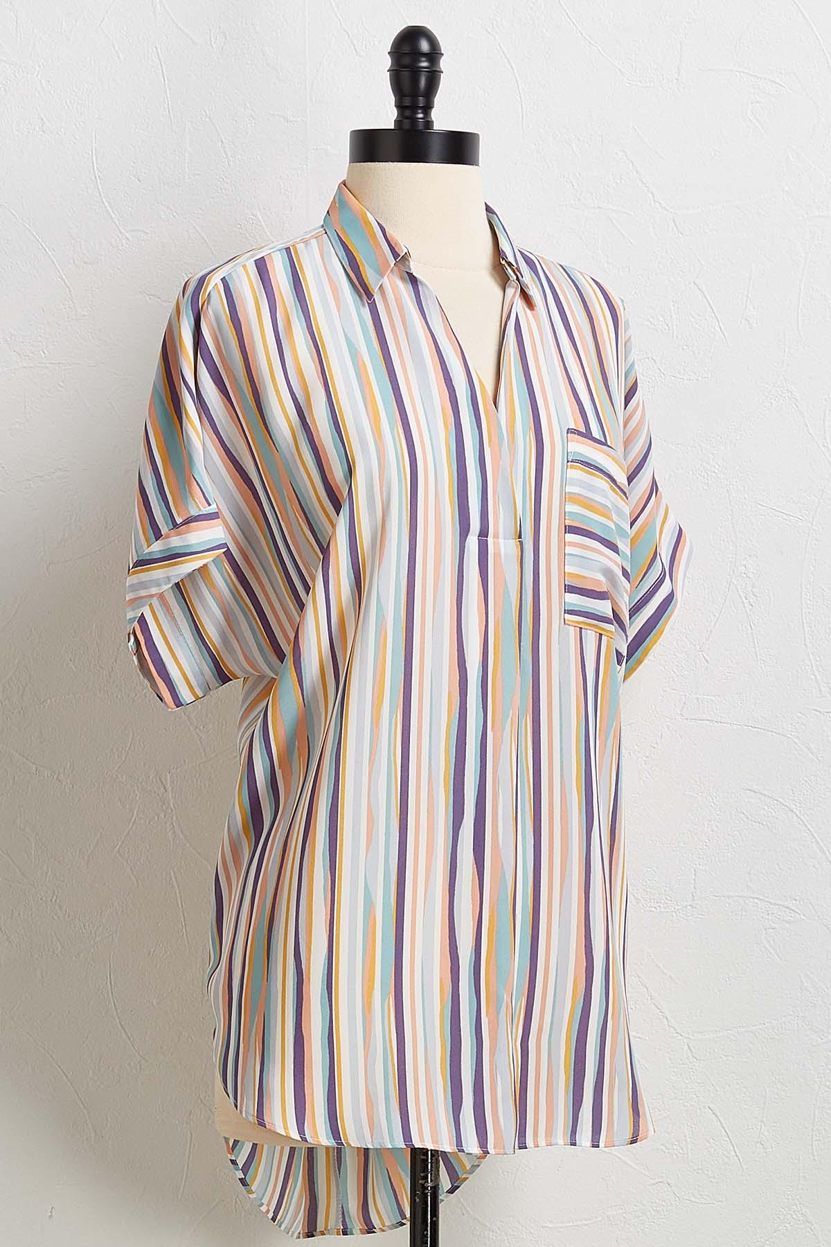 Stripe Pullover Shirt