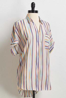 stripe pullover shirt