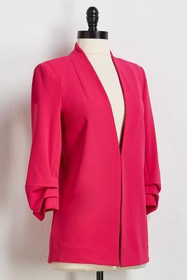magenta structured blazer