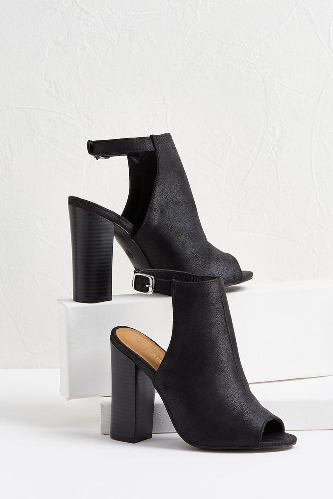 Slingback Faux Leather Shooties
