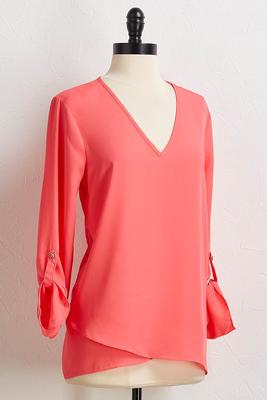 layered v-neck tunic