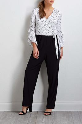 dotted colorblock jumpsuit