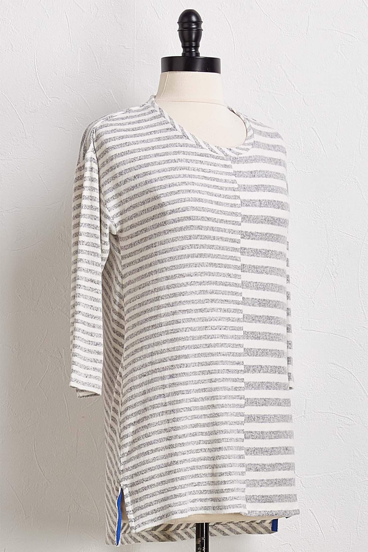 Stripe Hacci Tunic